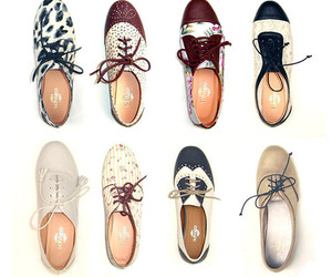 brogues, floral print, and florals image