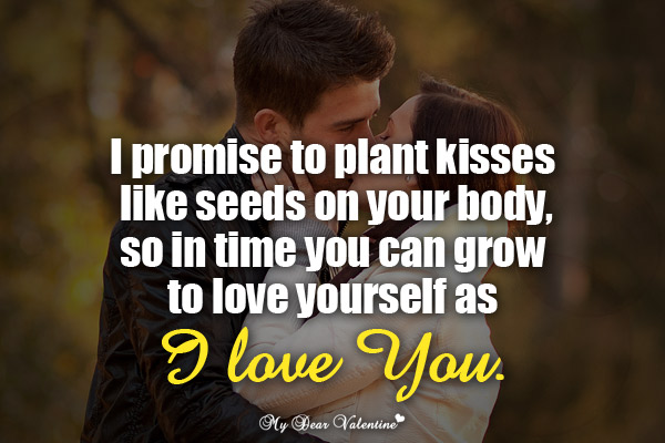 Love Picture Quotes For Him I Promise To Plant Kisses