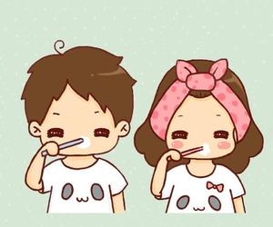 cartoon, couple, and cute image