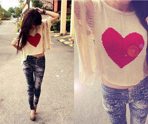 heart and outfit image
