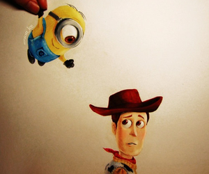 minions, disney, and toy story image