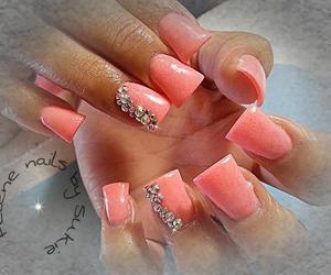 bling, coral, and nails image