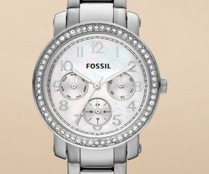 fossil, silver, and watches image