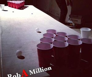 beer, red, and beer pong image