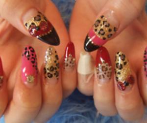 nails, nail art, and tacky image