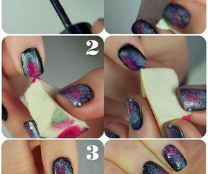 galaxy, nail, and nailpolish image