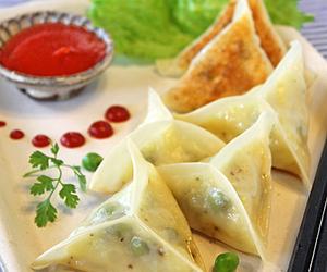 asian, dumplings, and food image