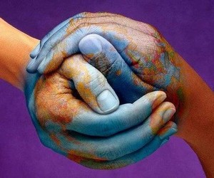 peace, symbol, and two hands image
