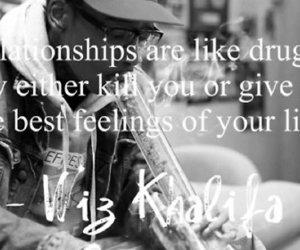 wiz khalifa, quote, and drugs image