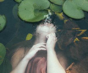 body, drowning, and strange image