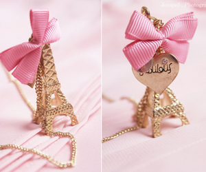 paris, pink, and bow image