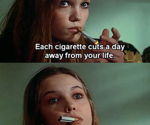 cigarette, life, and smoke image