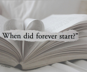 book, forever, and text image