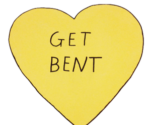 heart, get bent, and yellow image