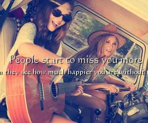 girl, happy, and friends image