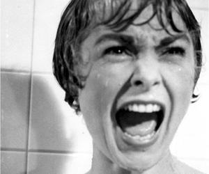 black and white, shower, and cry image