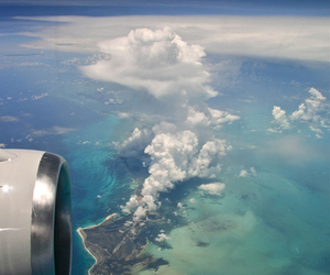sky, ocean, and clouds image