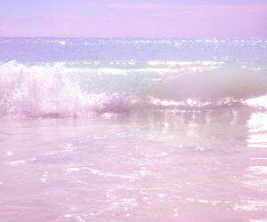 pink, pastel, and sea image