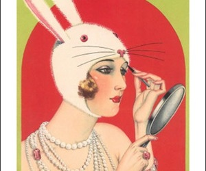 easter, mirror, and rabbit ears image