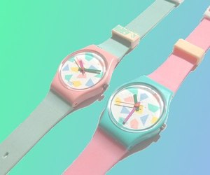 watch, pastel, and pink image