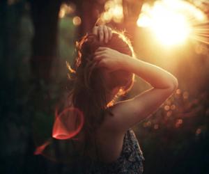 girl, sun, and hair image