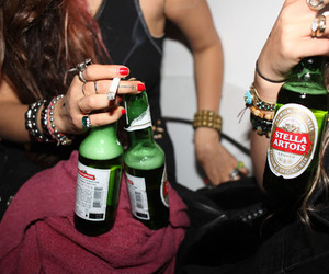 beer, cigarette, and girls image