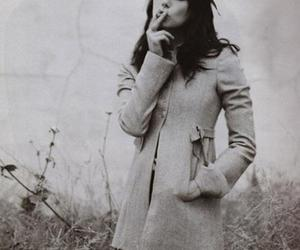 mia kirshner, black and white, and smoking image