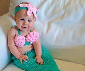 baby and mermaid image