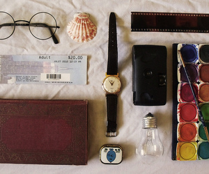 vintage, glasses, and paint image