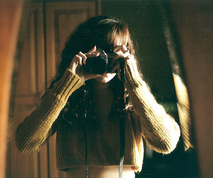 film, yellow, and girl image