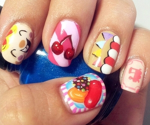 nail art, candy crush, and nails image