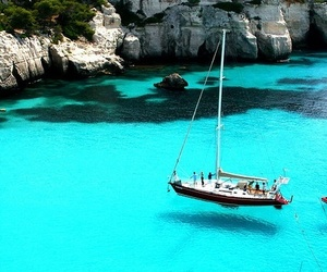 sea, italy, and boat image