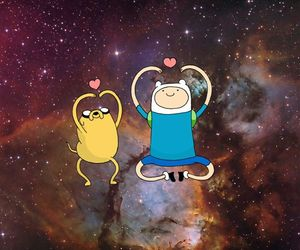 dancing, heart, and universe image