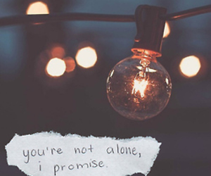 quote, promise, and alone image