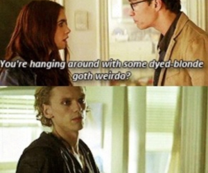 jace, blonde, and funny image