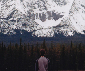 mountains, boy, and snow image