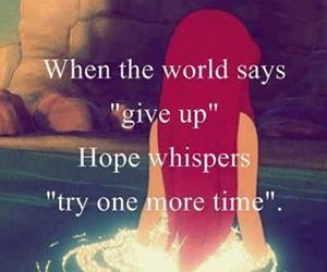 hope, quotes, and ariel image