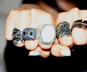 rings, owl, and nails image