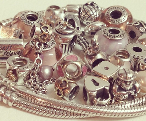 beads, bracelet, and charms image
