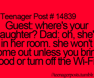 teenager post, food, and funny image