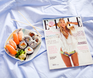 food, sushi, and Elle image