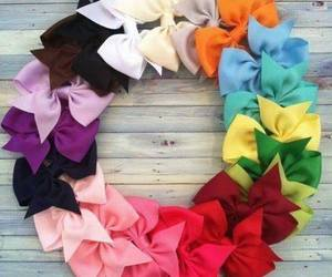 bow, colors, and rainbow image