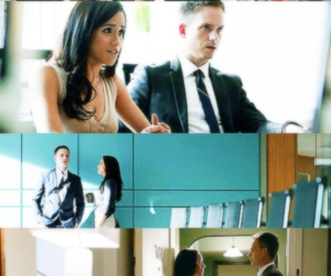 suits, mike ross, and rachel zane image