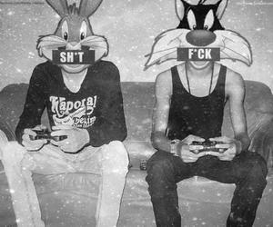 black and white, dope, and playstation image