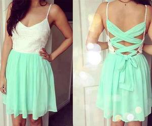dress, white, and green image