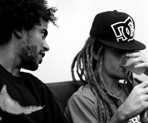 boy, dreads, and black and white image