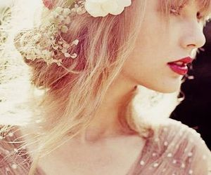 Taylor Swift, flowers, and red image