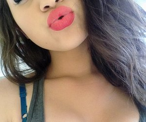 girl, sexy, and lips image