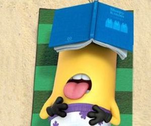 minions, beach, and summer image