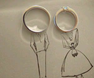 couple, ring, and rings image